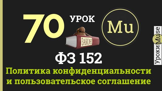 Политика конфиденциальности для сайта. Федеральный закон 152